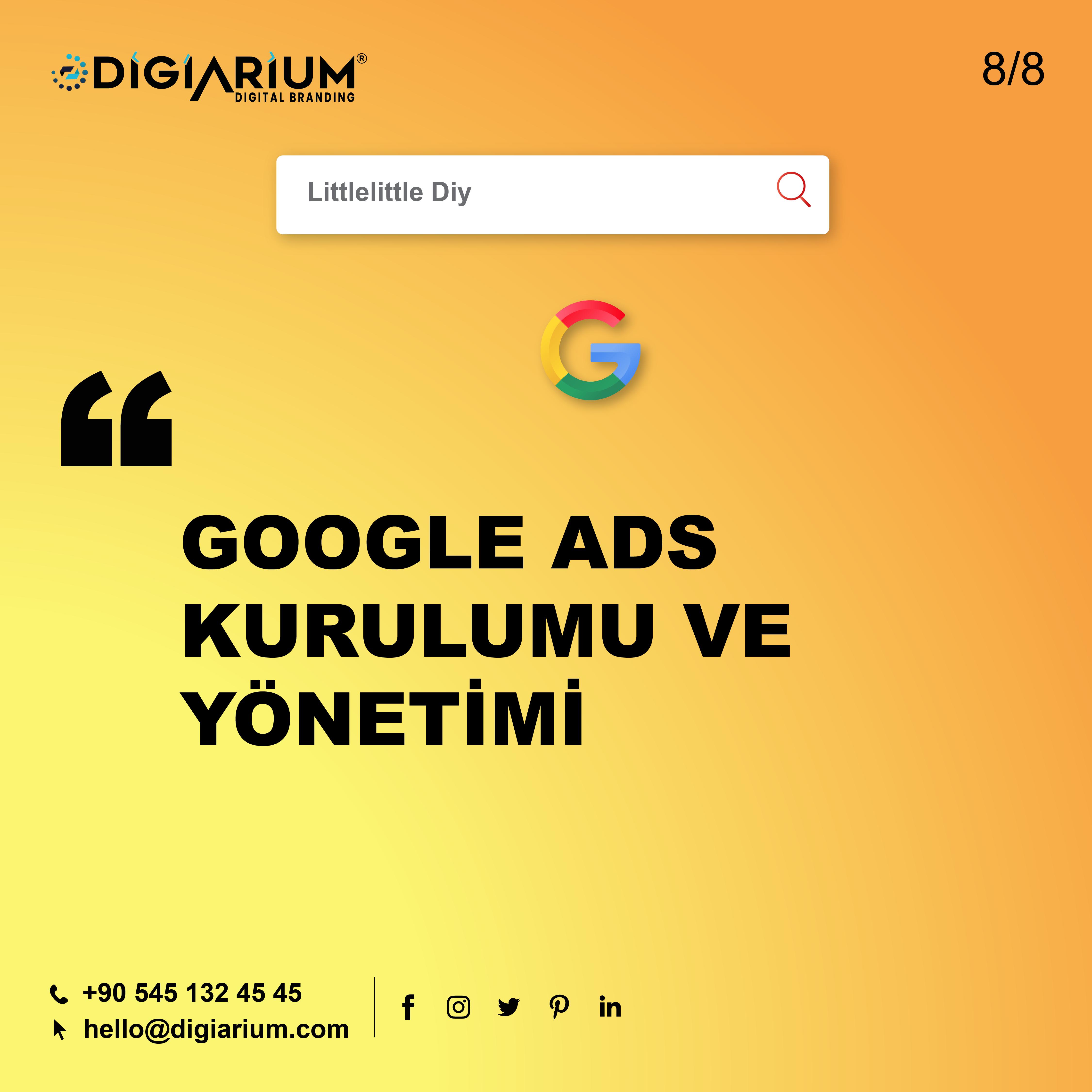 Google ads kurulumu ve yönetimi